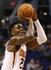 Suns center Deandre Ayton had 13 points with eight rebounds against the Spurs.