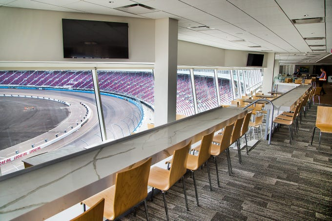 The Curve is an exclusive venue that is part of the renovation at ISM Raceway in Phoenix is nearly complete.  Final touches are being made in the massive renovation of the former Phoenix International Raceway, Wednesday, October 3, 2018.