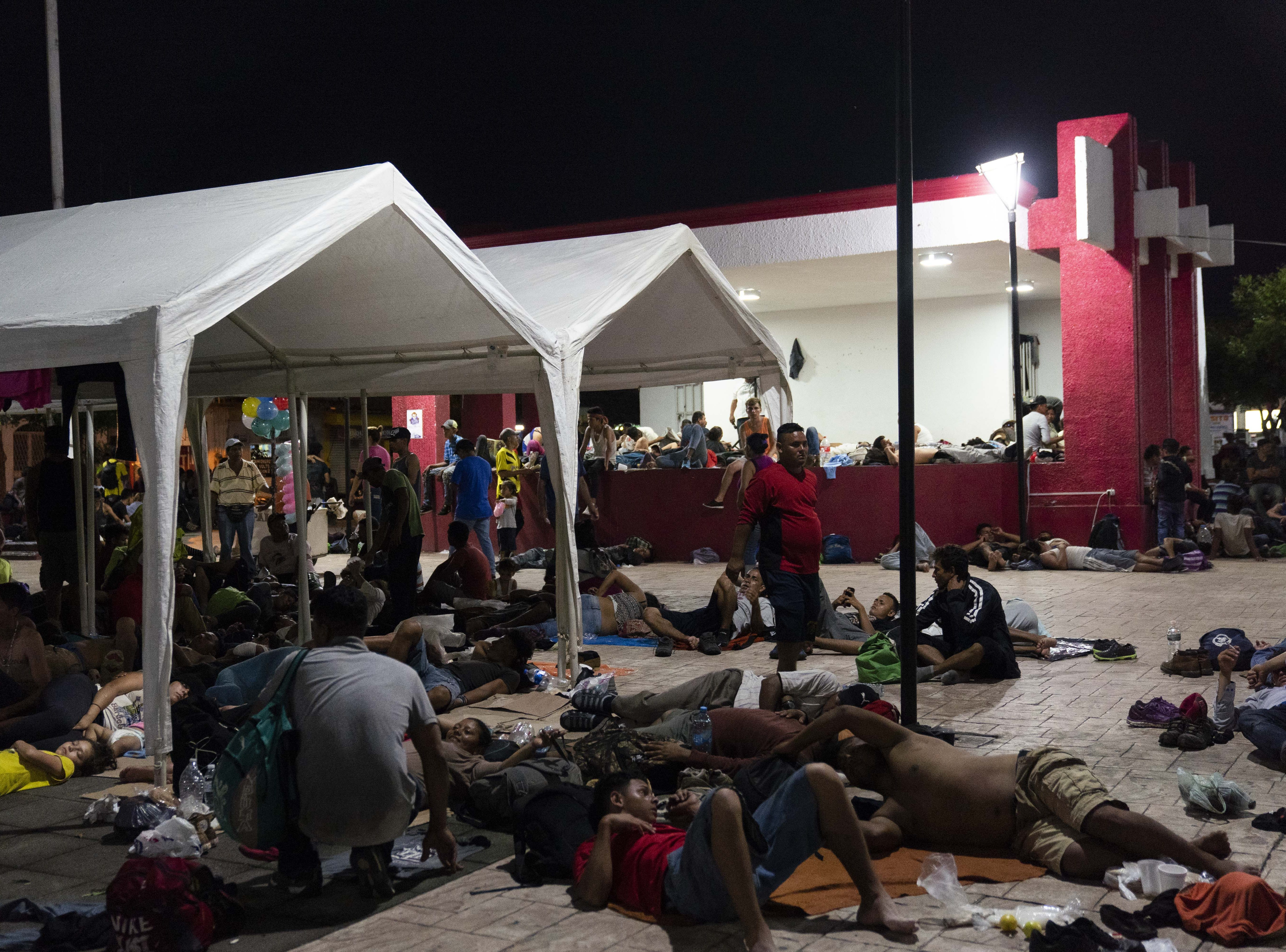 A second group of Central American migrants traveling in a caravan entered Mexico on Oct. 31, 2018, and reached the town of Huixtla, about 50 miles north of the Guatemalan border.