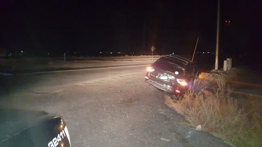 The scene of the arrest Wednesday night.
