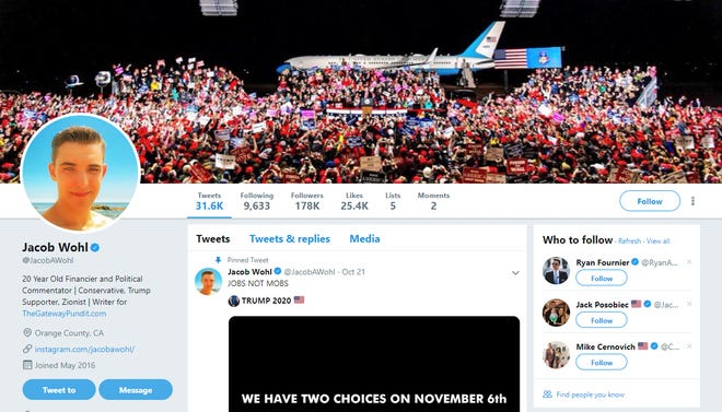 Jacob Wohl, a 20-year-old pro-Trump Twitter personality, misled Arizona investors from 2015-2016 in an attempt to defraud them, according toa cease and desist orderfiled by the Arizona Corporation Commission last year.