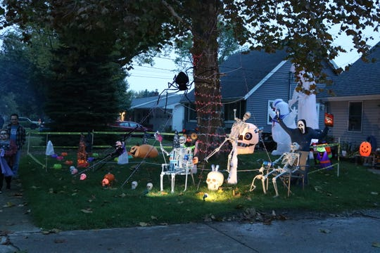 Clinton Street offered a lot of well-decorated homes for trick-or-treating in Port Clinton on Wednesday.