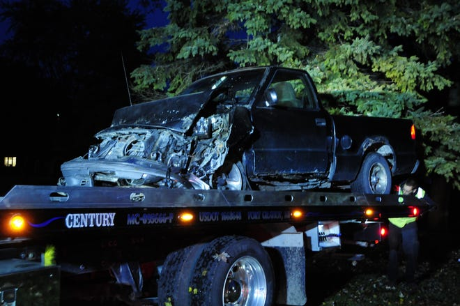 A truck crashed early Thursday on Gratiot north of Holland in Port Huron.