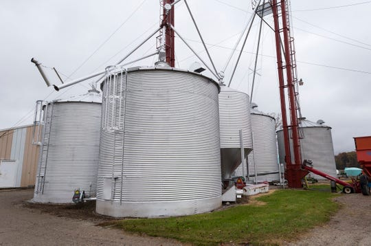 United Soybean Board director Jim Domagalski has several storage units full of soybeans.