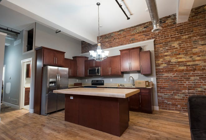A completed kitchen in one of the lofts in the Ballentine building in downtown Port Huron.