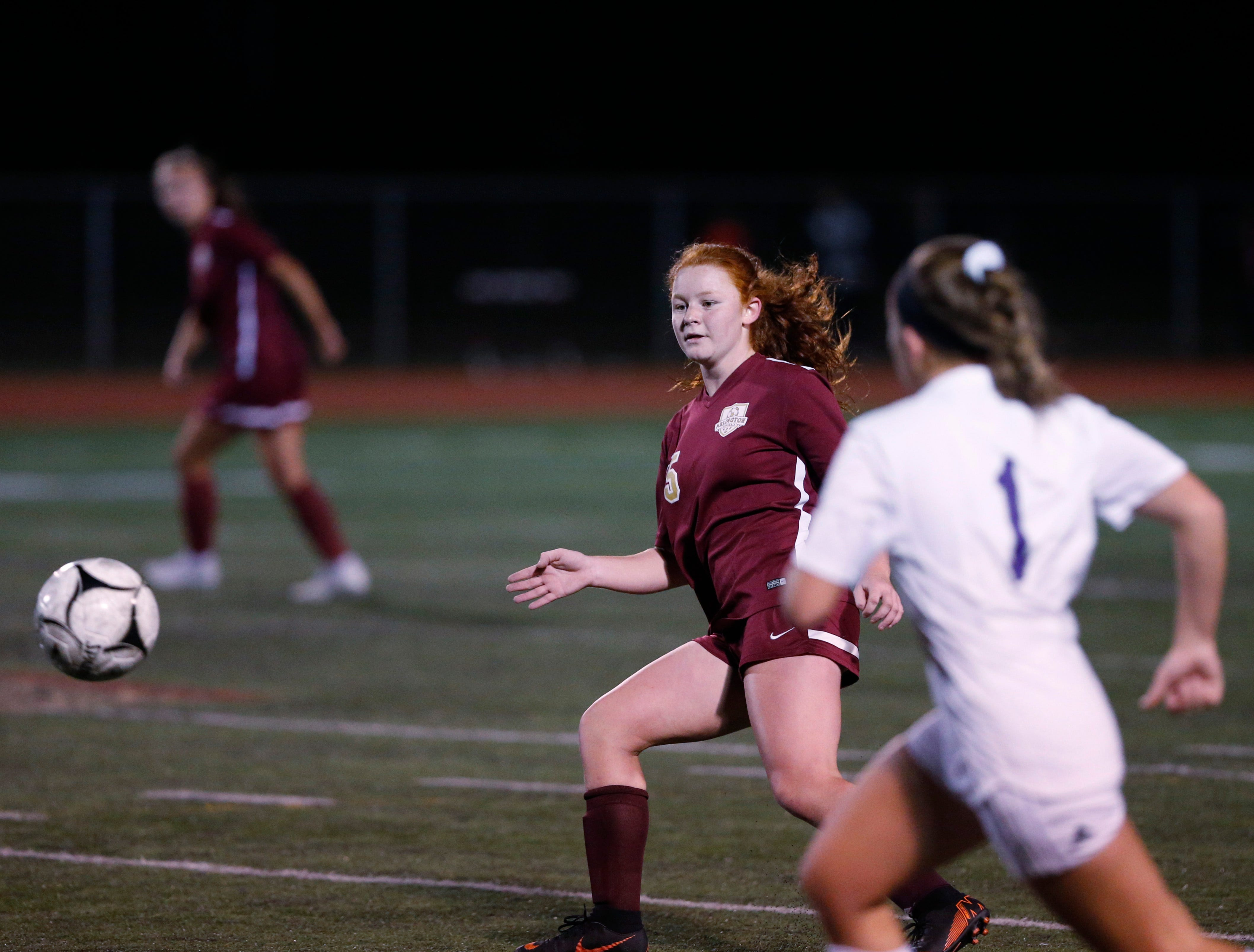 Action from Wednesday's class AA regional semifinal between Arlington and Monroe-Woodbury in Freedom Plains on October 31, 2018.