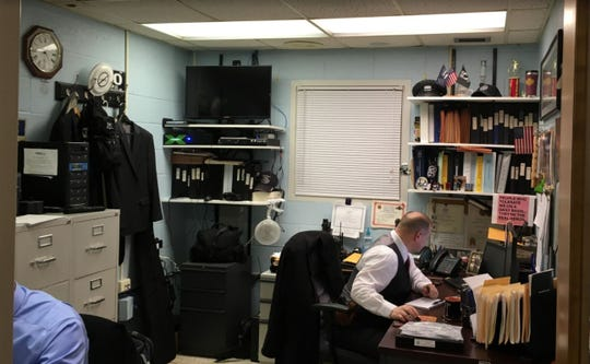 Police officers are cramped in the Chambersburg Police Department.