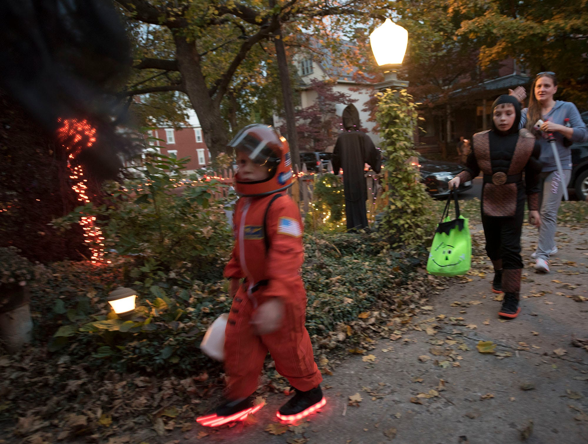 Bob and Sarah Prince hosted their annual Halloween Haunted House at 47 Fifth Avenue, Chambersburg, do the delight of trick-or-treaters.