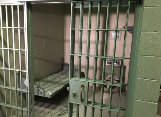 The Chambersburg Police Department's holding cell in borough hall.