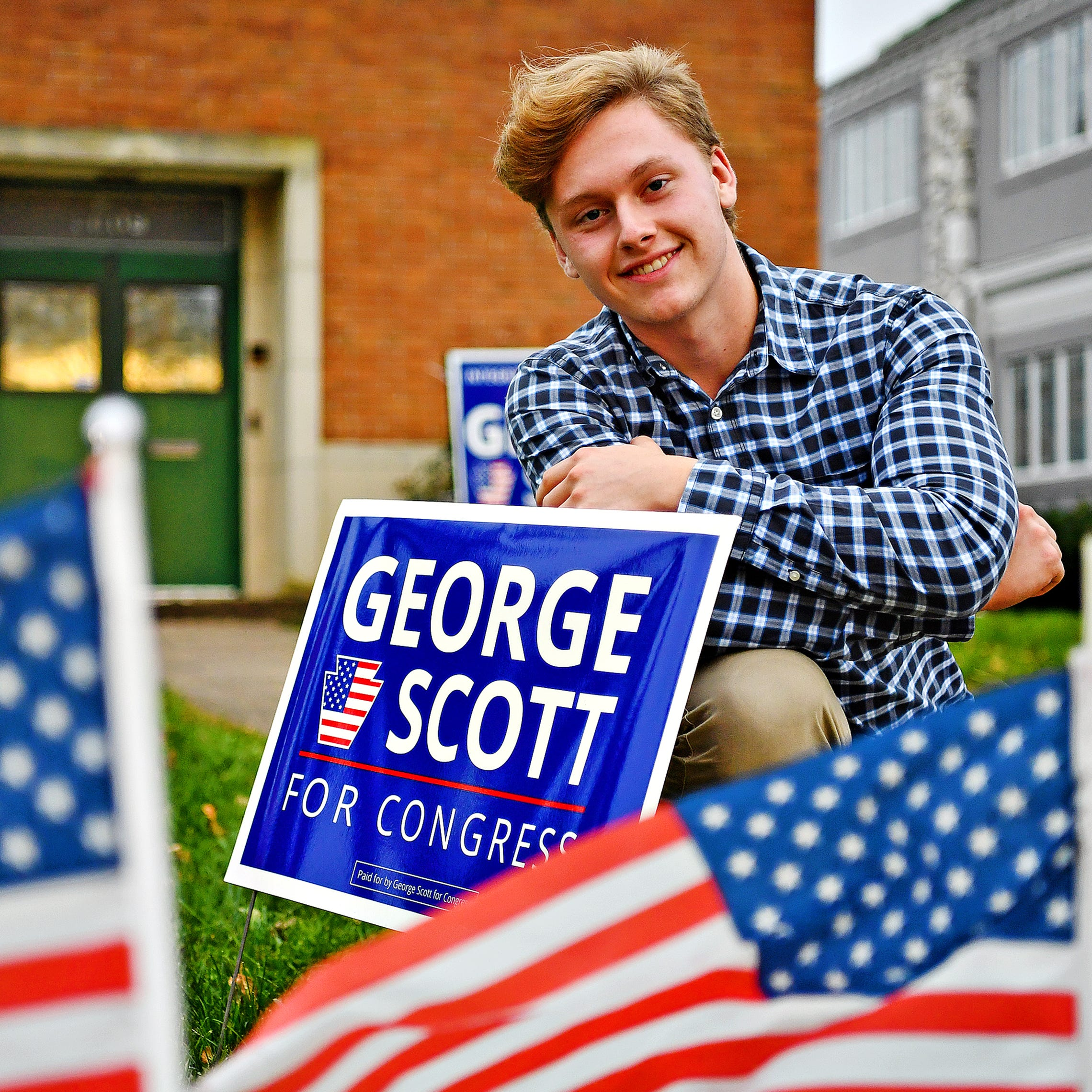 On his 18th birthday, Nicholas Scott's first-ever vote will be for Dad