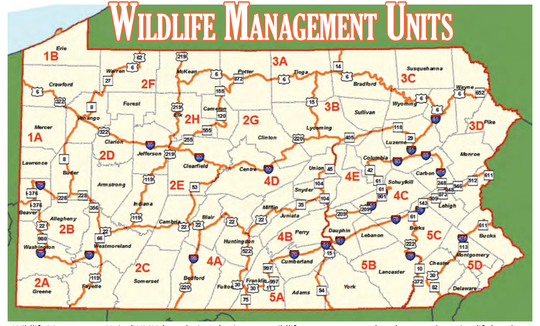 A look at the Wildlife Management Unit map across Pennsylvania.