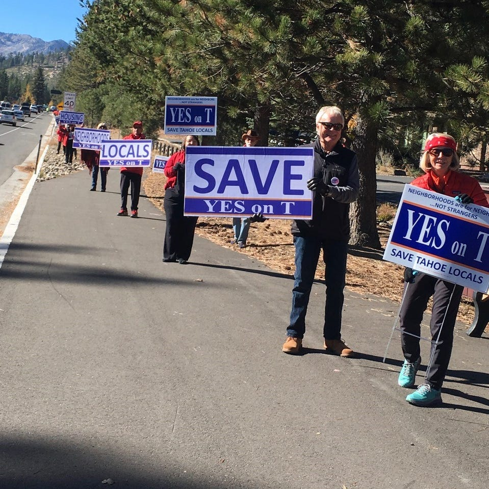 Measure T: South Lake Tahoe Airbnb residential ban lead shrinks to 25 votes