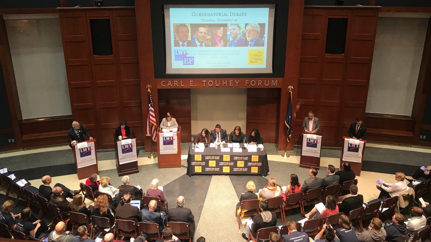 Governor candidates engage in debate, ignoring Andrew