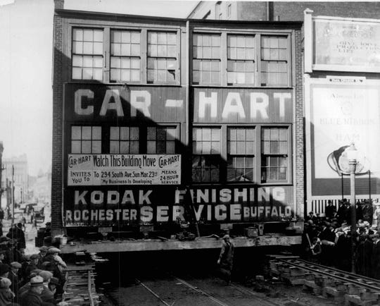 Back in 1924 when Carhart relocated to 294 South Ave., the address changed, but not the building. The entire plant was moved two blocks.