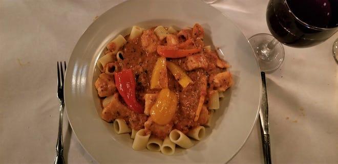 Chicken riggies at Proietti's Italian Restaurant.