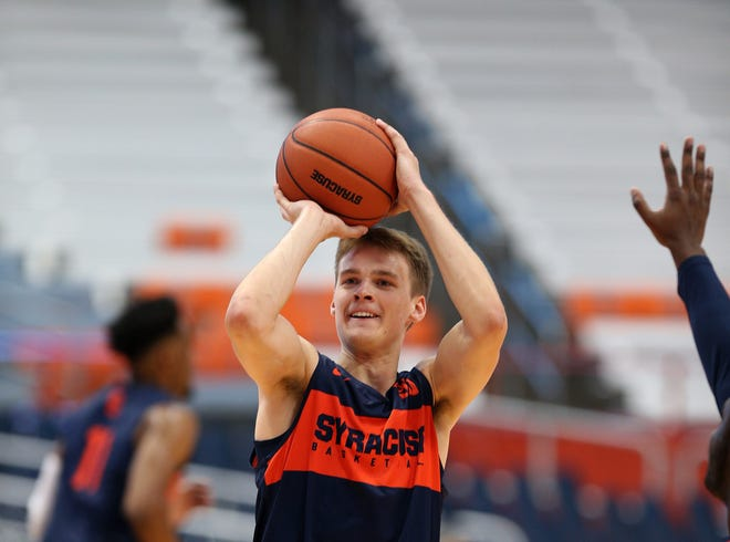 """Buddy Boeheim: A """"knock-down'' 3-point shooter. He takes 500 to 1,000 shots per day."""