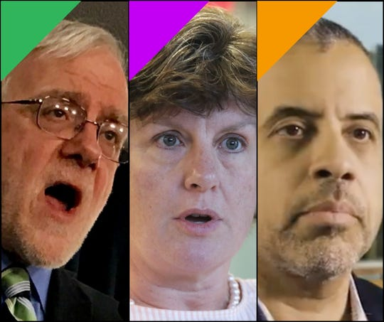 Green Party candidate Howie Hawkins, Serve America Movement candidate Stephanie Miner and Libertarian candidate Larry Sharpe are running for governor in 2018