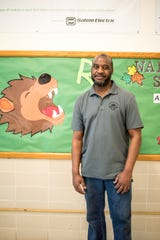Lee King, lead custodian, Walker Middle School