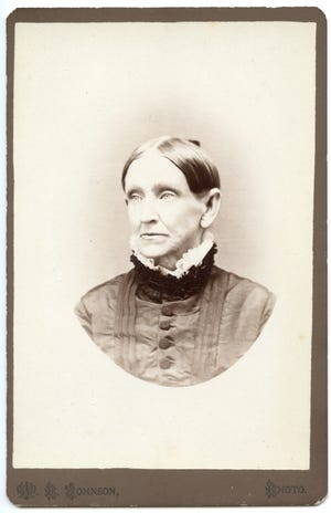 The markings on the back of this unidentified photograph found in the Willamette Heritage Center's collections offered clues to an early Salem businesswoman.
