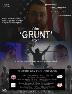 """""""The Grunt Film Project"""" features four veterans who talk about stories of war, coming home, dealing with depression and PTSD and comrades committing suicide."""