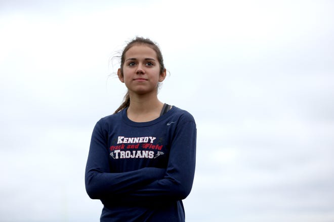John F Kennedy High School track senior, Alejandra Lopez, poses for a portrait on Wednesday, Oct. 31, 2018, in Mt Angel. Lopez has the top time in 2A heading into the state cross country meet Saturday. She placed fifth last year.
