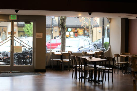The downstairs seating area at Brown's Towne Restaurant & Lounge on Oct. 31, 2018.