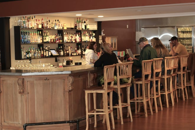 The lunchtime crowd at the bar at Brown's Towne Restaurant & Lounge on Oct. 31, 2018.