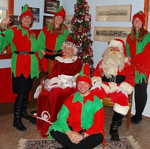 Santa, Mrs. Santa and elves visited with children at the Onley Train Station in Onley, Virginia in December 2017. They will be visiting there again on Dec. 1, 2018.