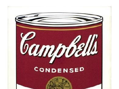 Seven Andy Warhol prints were stolen from the Springfield Art Museum in 2016, including a print of a can of Campbell's Chicken Noodle  Soup. No one has been arrested.