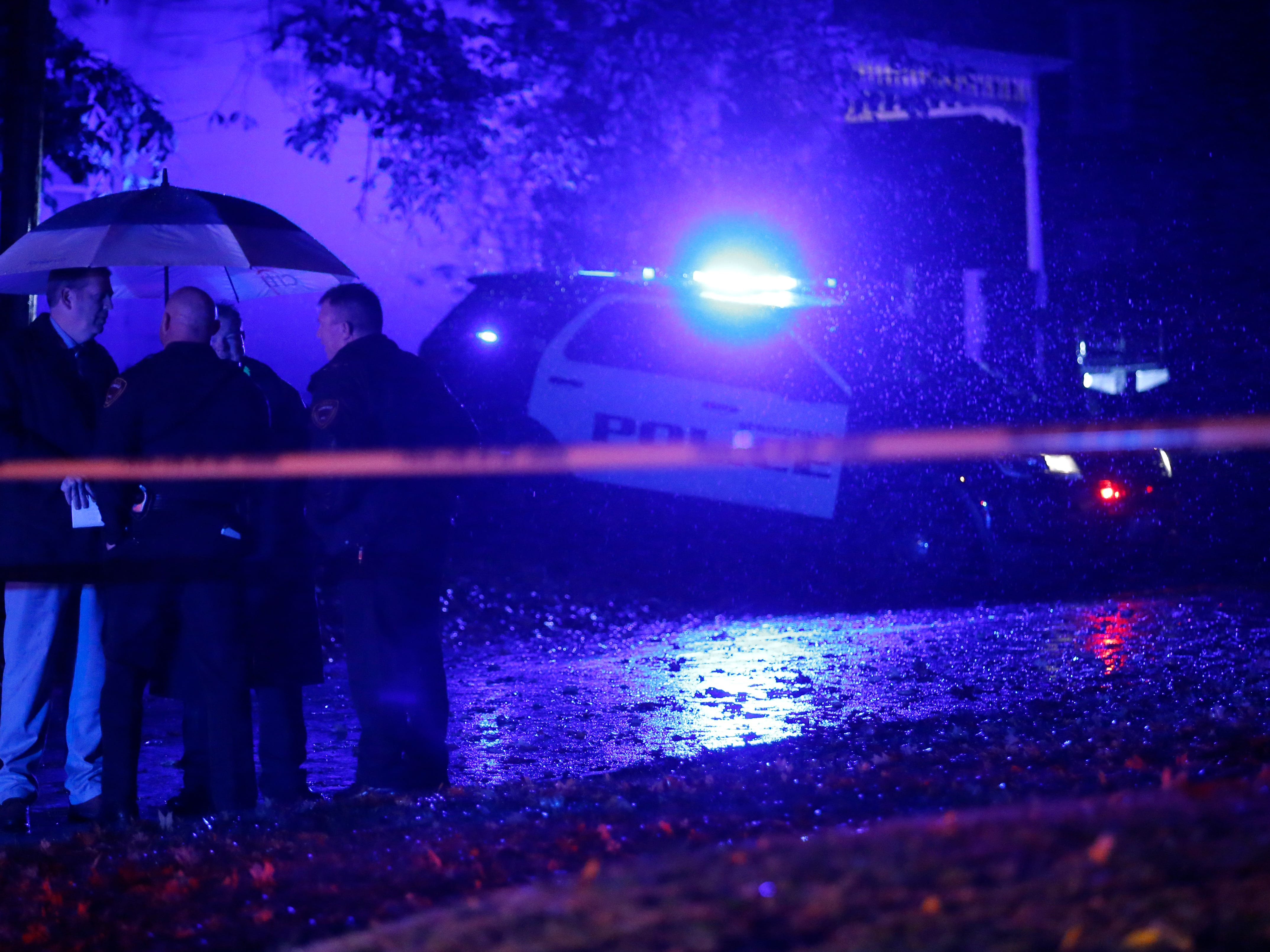 Springfield Police are investigating an overnight shooting that left at least one person dead and multiple others shot in the 900 block of East Locust Street on Thursday, Nov. 1, 2018.