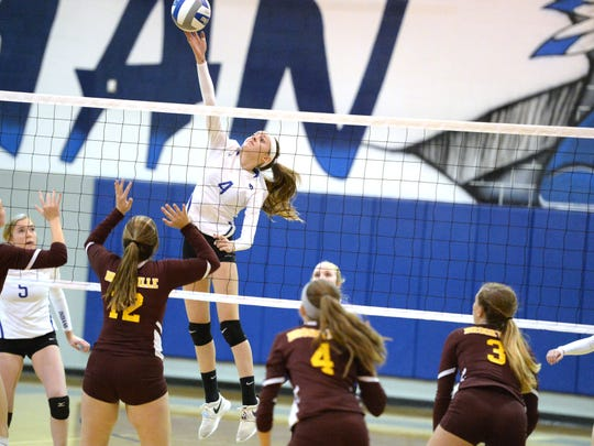 Fort Defiance's Lani Goggin finished the night with seven kills in Wednesday's win over Brookville in the Region 3C quarterfinals.