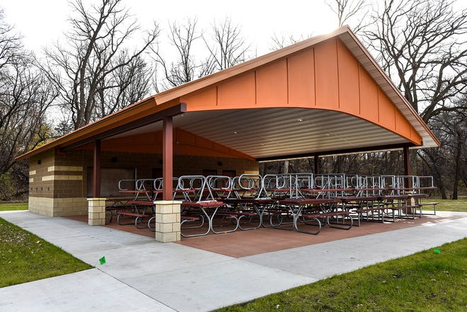 The new community shelter is complete in Watab CreekPark shown Thursday, Nov. 1, in Sartell.