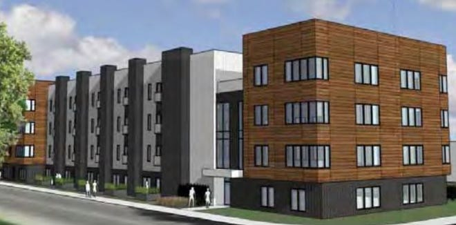 Kansas-based real estate development company Cohen-Esrey wants to build a four-story apartment complex at the corner of Water Street and Arlington Place, which will come before the city in November.