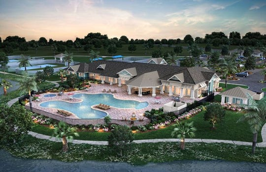 Rendering of clubhouse planned at Pulte Home Company's Del Webb Tradition 55-plus community in western Port St. Lucie.