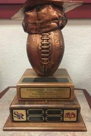 The Vero Beach and Sebastian River football teams play for the Scholarship Foundation Football Classic trophy each season.