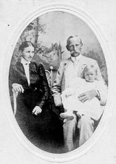 Axel Hallstrom moved his young family to Florida in an attempt to alleviate his wife Emily's tuberculosis. Unfortunately, it claimed her life shortly after they moved here, making this a very rare photo of Ruth Hallstrom with both her parents.