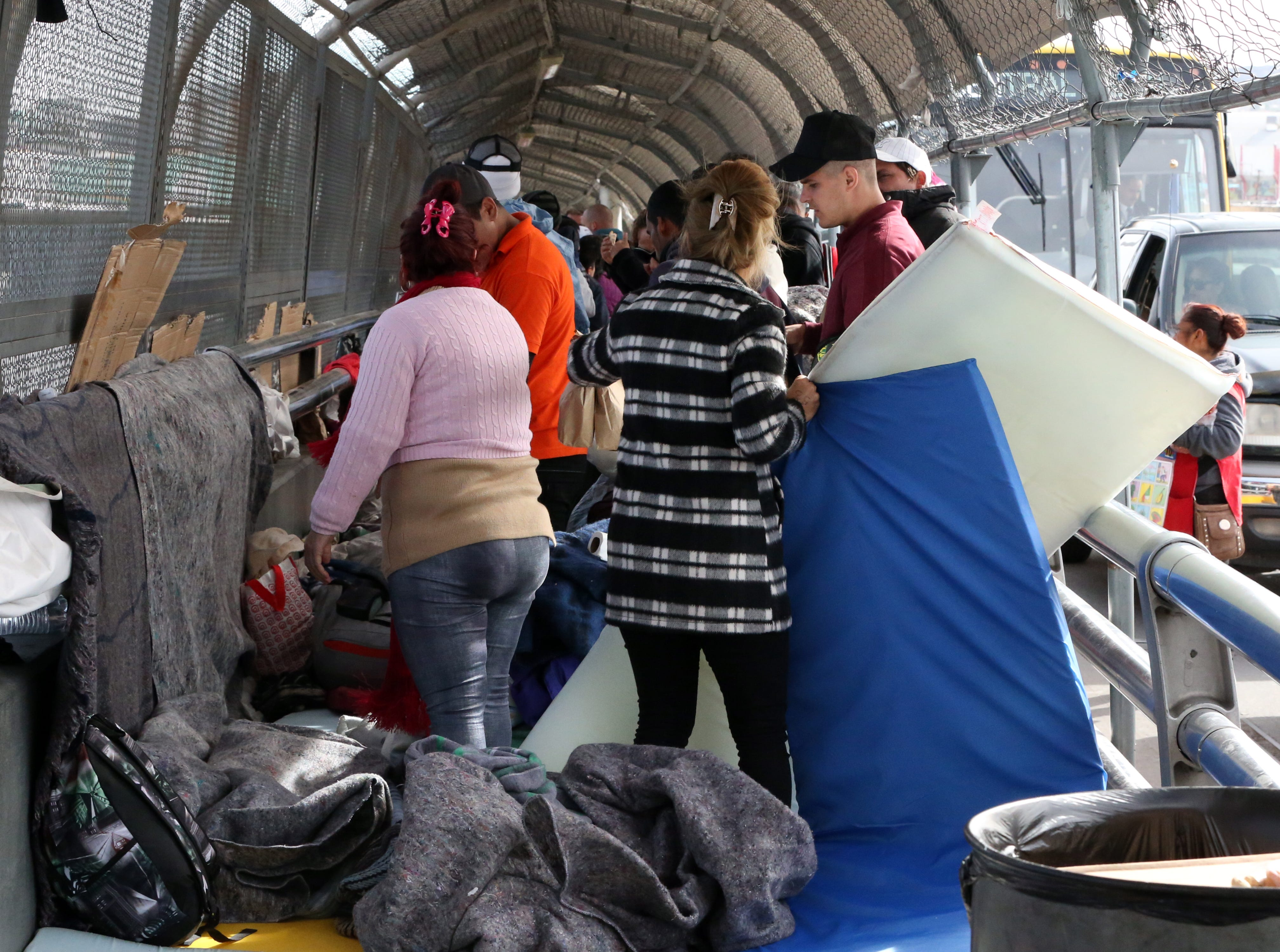 Just over 100 undocumented migrants were camped on the Paso Del Norte international bridge waiting to enter the U.S. on Nov. 1.