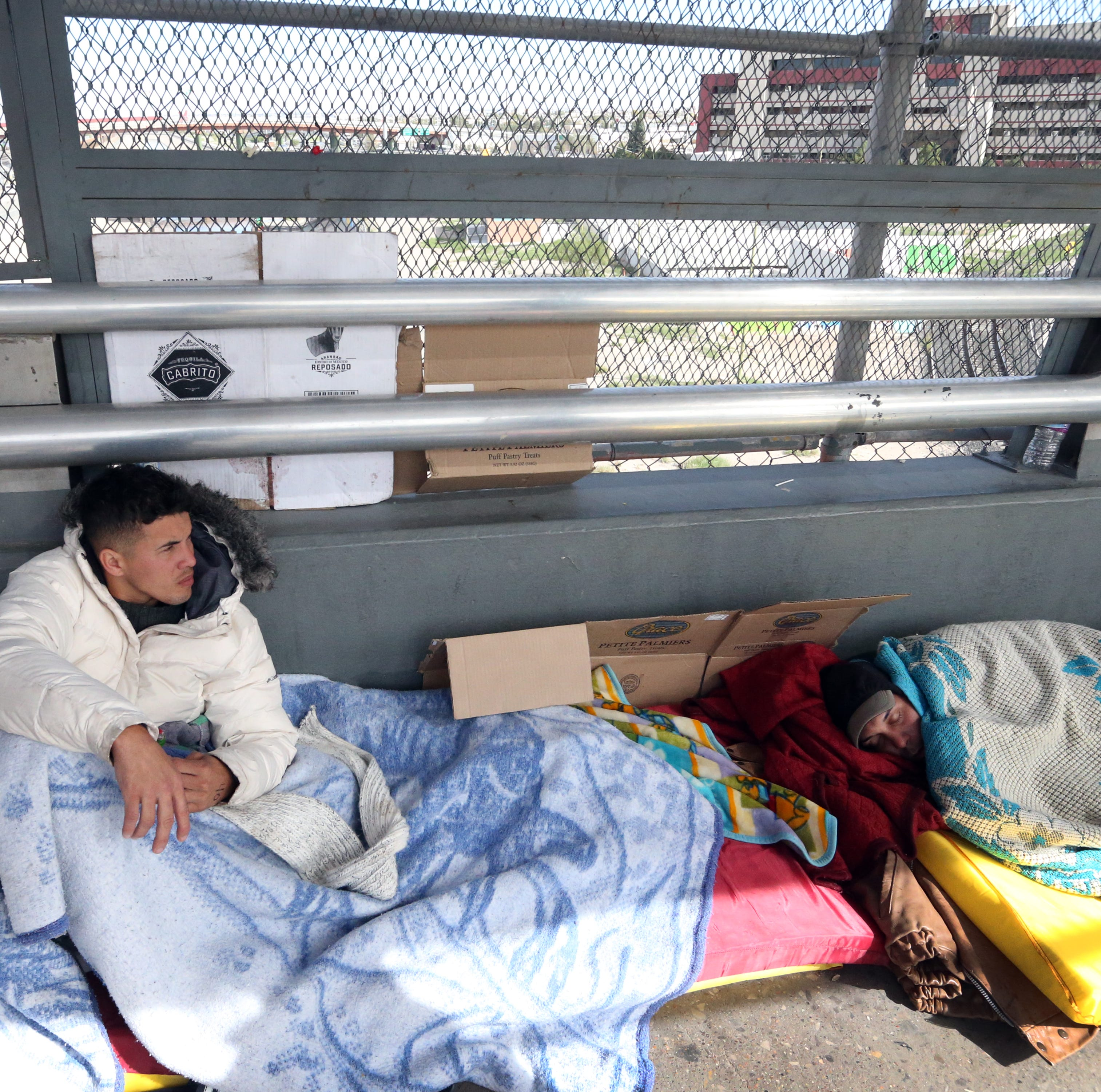 Migrants sleeping on Paso Del Norte Bridge at El Paso border moved to Juárez shelter