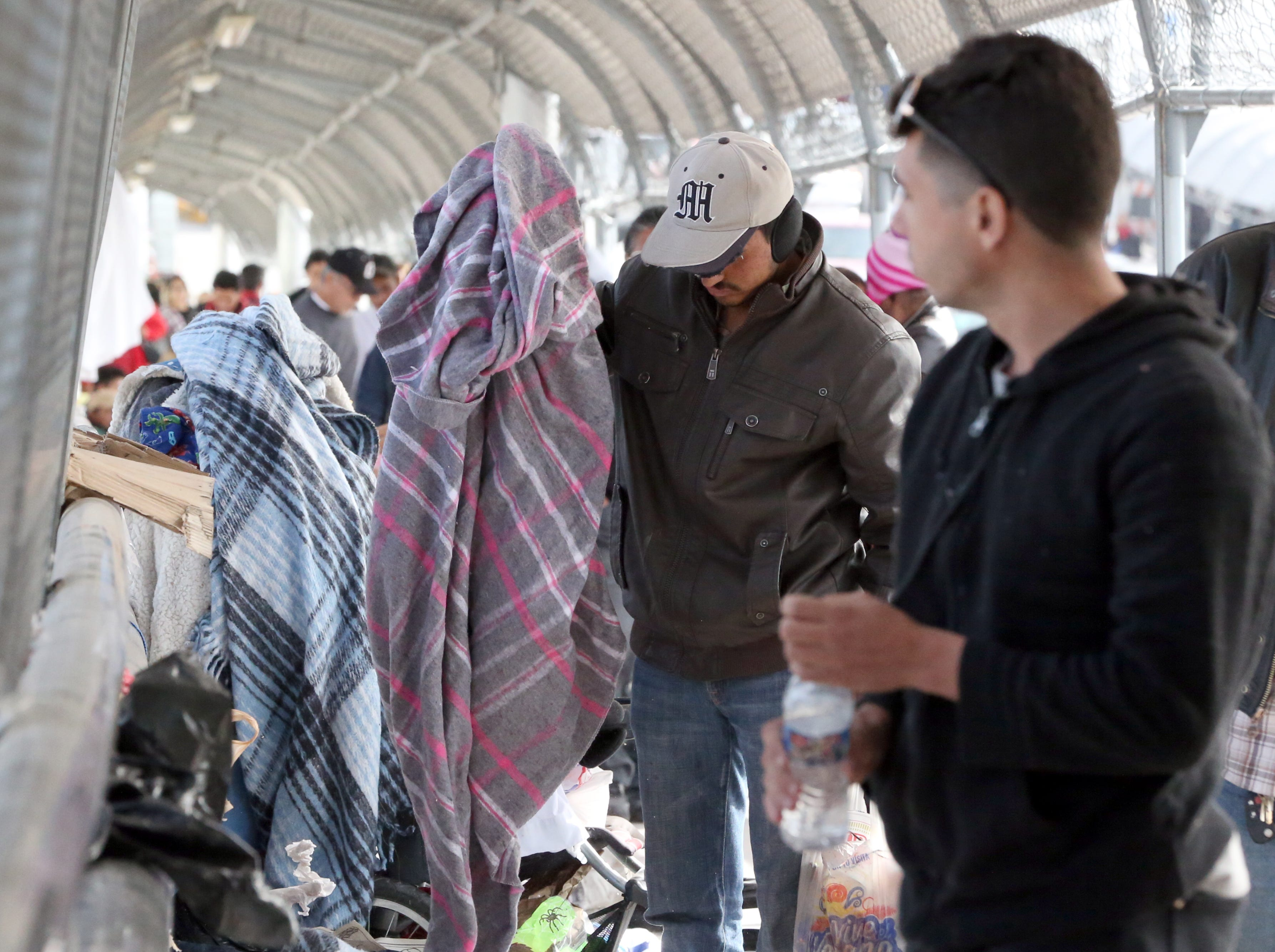 Just over 100 undocumented migrants were camped on the Paso Del Norte international bridge waiting to enter the U.S. Thursday.