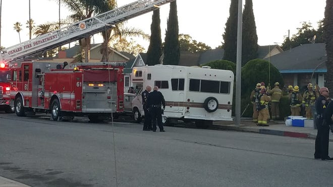 Authorities responded to a fire Wednesday afternoon in Oxnard.