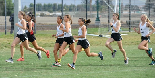 The Ventura High girls team proved to be dominant at the Pacific View League cross country championships Thursday at College Park in Oxnard.
