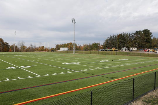 Two football fields at the Granite Knolls complex in Yorktown.