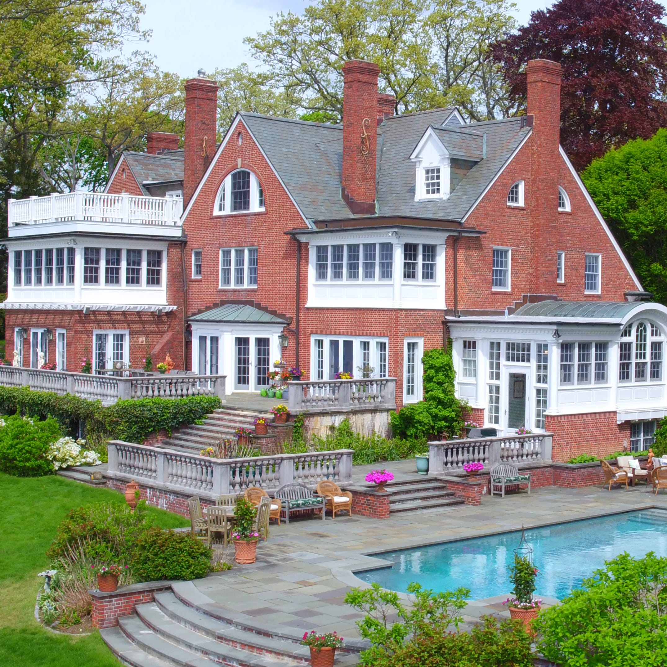 Low Wood, a 1900 estate on the Sound Shore waterfront, has been sold for $10.3M