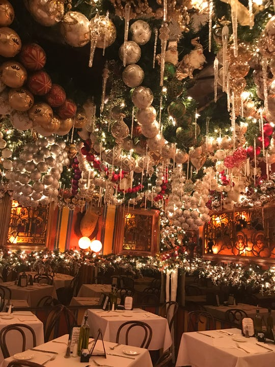 Elaborate decorations define Rolf's at 22nd and Third Avenue in New York City.