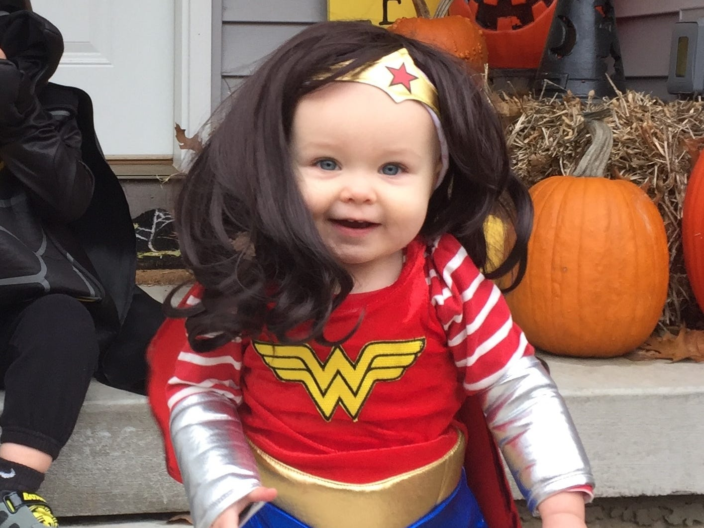 "Anna Borreson, 1, as ""Wonder Woman."" She is the daughter of Erik and Monica Borreson of Stevens Point."
