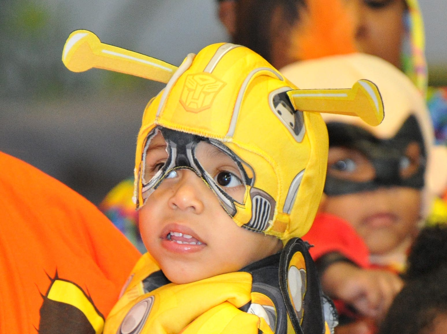 1-year-old Adrian Lopez, was dressed as a bumble bee, Wednesday afternoon during the Martin Luther King Center's Halloween costume contest.