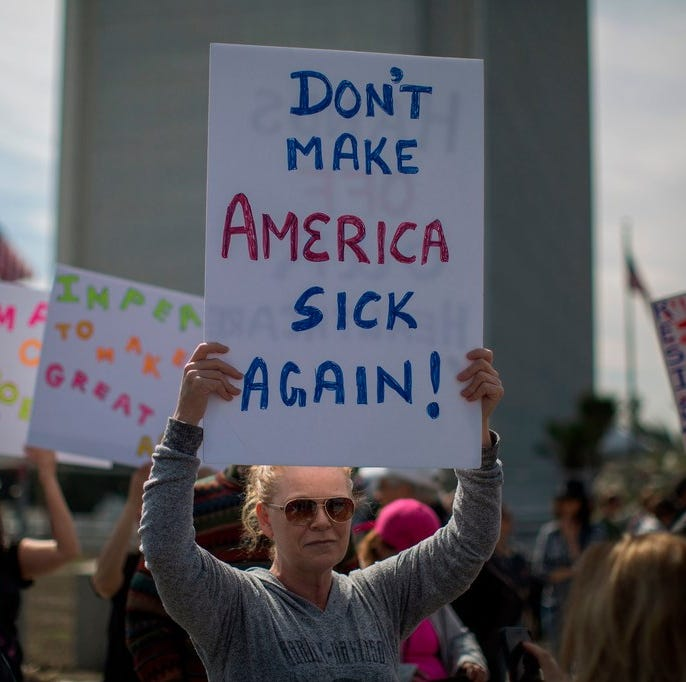 Vote your fears on health care, not caravan 'crisis' hyped by Trump and Republicans