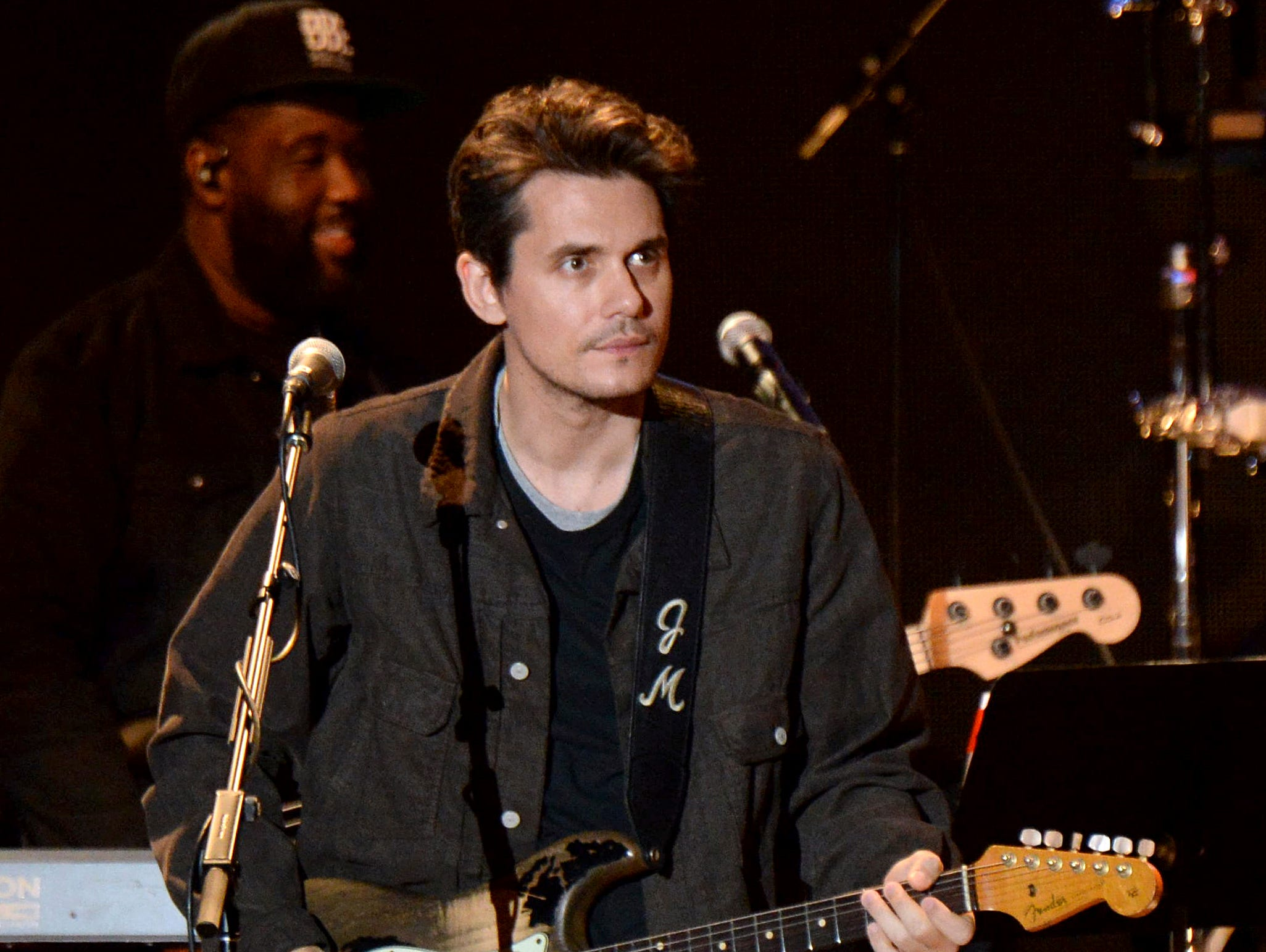 John Mayer performs during the tribute event Mac Miller: A Celebration of Life on Wednesday, Oct. 31, 2018, at the Greek Theatre in Los Angeles. (Photo by Amy Harris/Invision/AP) ORG XMIT: CAPM106
