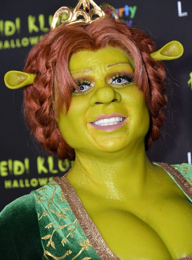 Heidi Klum's Shrek Halloween costume seriously deserves an Oscar