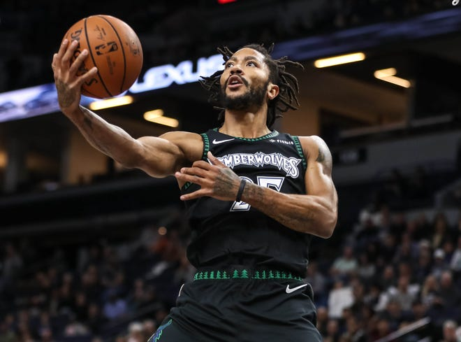 Derrick Rose poured in 50 points for the T'wolves.